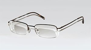 English: A modern pair of prescription glasses...